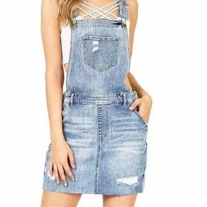 690feed87d7 Denim Overalls Skirt